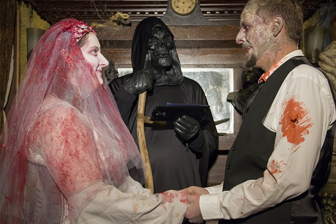 Death himself presided over the wedding. - DANNY WICENTOWSKI