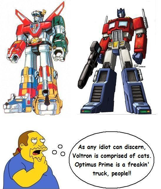 Newspaper to Readers: Sorry We Mistook Voltron for Optimus ...