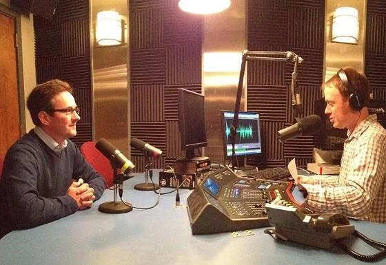 Senator Schaefer doing an interview. - VIA FACEBOOK