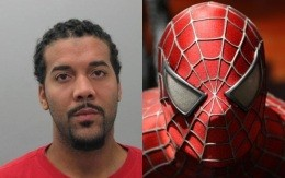 Richard Whitehead is charged for robbing a pizza guy while looking like Spiderman.
