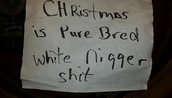 The note Rosemary Nieters found on her car. - COURTESY OF ROSEMARY NIETERS