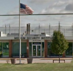 The St. Louis Medium Security Institution where two guards allegedly instigated an inmate brawl.