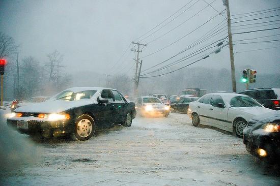 Missouri Highway Patrol says crashes increased ten-fold during last week's storm. - RICH MOFFITT