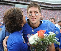 Pam Tebow and the son she chose not to abort, Heisman Trophy-winner Tim. - IMAGE VIA