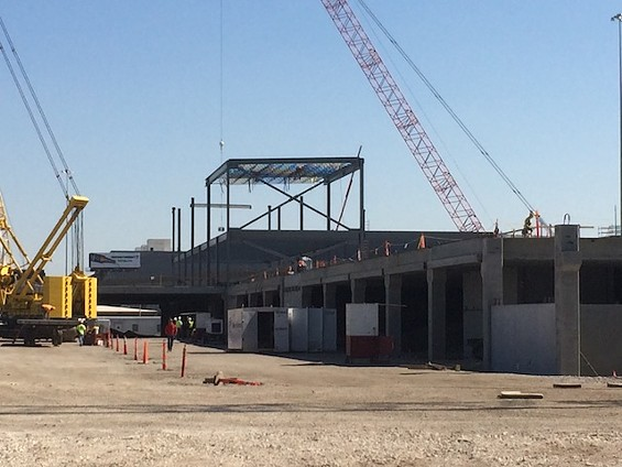 The two-story retail store will sit on top of the 1,300-space parking garage. - MITCH RYALS