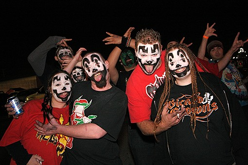 The cultish dedication of Insane Clown Posse juggalos was in full-effect Saturday night. See photos here. - PHOTO: NICK SCHNELLE