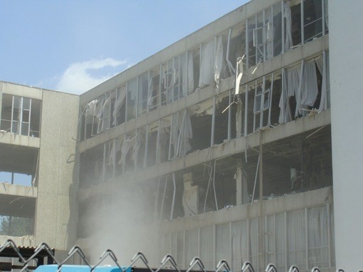 The east wing of the building looks like it's been bombed​ - STLOUISPATINA.BLOGSPOT.COM