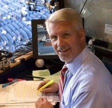 Steve Phillips in the broadcast booth.