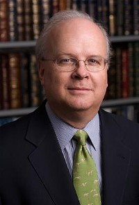 "In Peter Kinder terminology, Karl Rove ""made it rain"" Wednesday night."