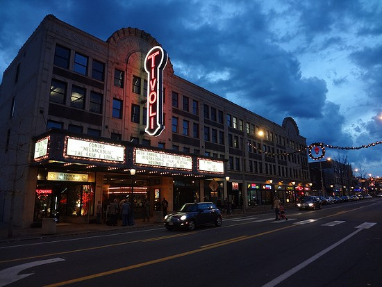 The Tivoli Theatre, with its sort-of new sign. - PAUL SABLEMAN, FLICKR