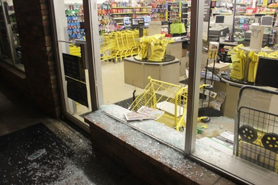 Dollar General on West Florissant Avenue was also hit by looters. - DANNY WICENTOWSKI