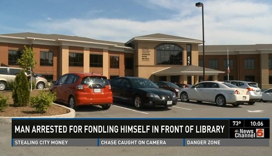 Library parking lot. - VIA KSDK