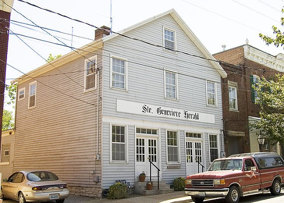 Ste. Genevieve Herald's building. - VIA
