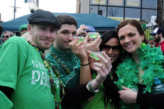 St. Patrick's Day: The only day when drinking green alcohol seems normal. - DAVID WALTHALL