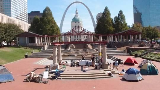 How long will Mayor Slay let the OccupySTL tents stay in Kiener Plaza? - ALBERT SAMAHA