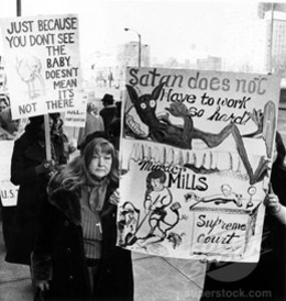 Protesters in downtown St. Louis in the late 1970s.