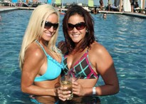 """""""Oh hey, we're just hanging out in this pool, posing with our mixed drinks."""""""