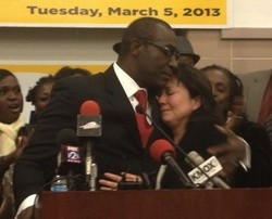 Lewis Reed on election night. - SAM LEVIN