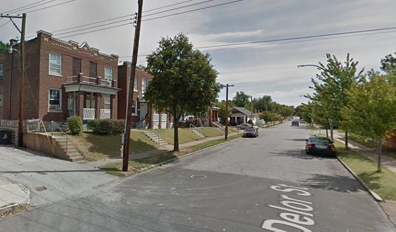 The 3500 block of Delor Street, facing east from S. Grand Boulevard. - GOOGLE MAPS