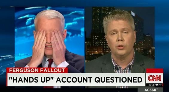 Police union spokesman Jeff Roorda on CNN with Anderson Cooper. - SCREENGRAB