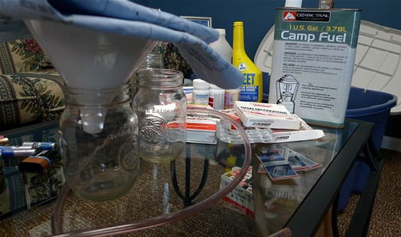 The components of a traditional anydrous ammonia meth lab - KEEGAN HAMILTON