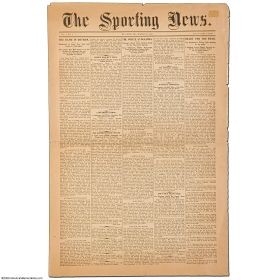 The first issue of the Sporting News, March 17, 1886, reporting baseball news from across the nation. - IMAGE VIA