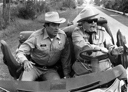 """Finally! An excuse to run that photo of Jackie Gleason (as """"Sheriff Buford T. Justice"""") in Smokey and the Bandit. Thanks, ESL!"""