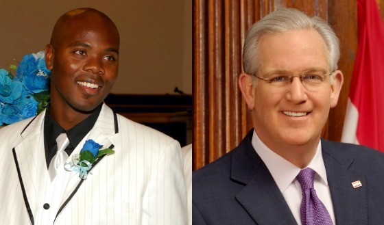 Mike Anderson and Governor Jay Nixon. - COURTESY LAQONNA ANDERSON/OFFICE OF THE GOVERNOR