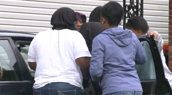 Family mourning in Spanish Lake. - VIA KTVI