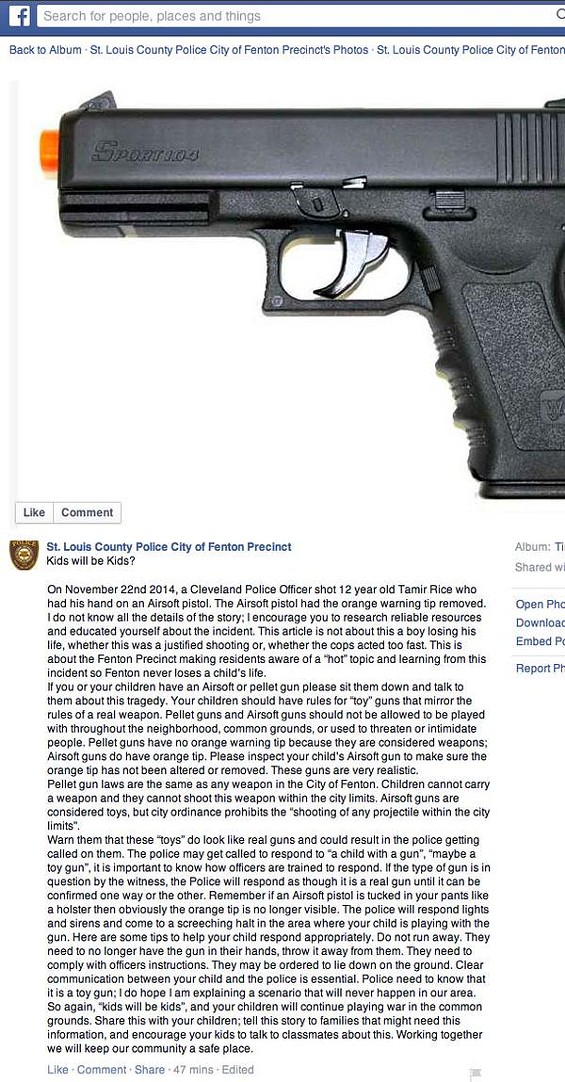The now-deleted Facebook post. - SCREENGRAB