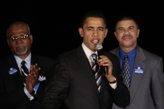 President Barack Obama with Rep. Lacy Clay. - VIA FACEBOOK