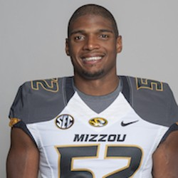 Michael Sam in his Mizzou uniform.