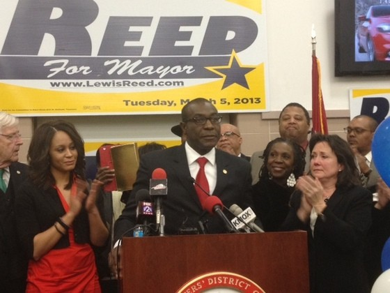 Lewis Reed on election night last month. - SAM LEVIN