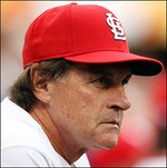 "Tony La Russa may agree with Sarah Palin about ""restoring honor"" -- but we're guessing they disagree about animal rights."