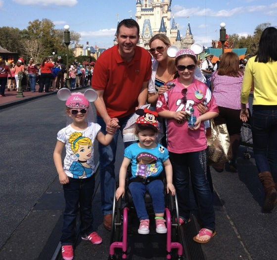 The family in Disney World this month. - COURTESY OF NATHAN FORCK