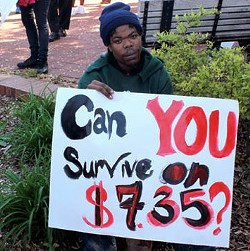St. Louis protester earlier this month. - KRYSTYNA NINH FOR RFT