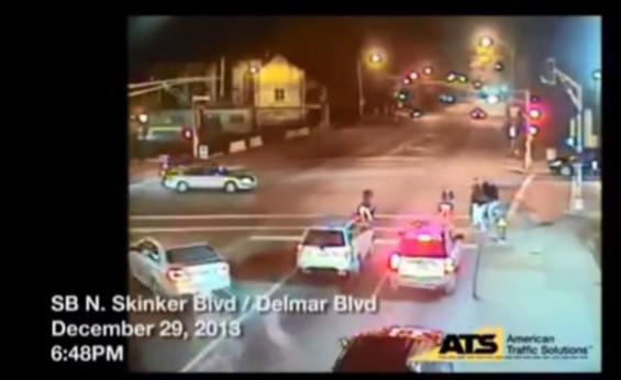Red light camera footage of the shooting. Watch the video below. - SLMPD