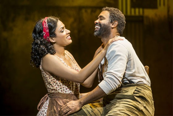 Alicia Hall Moran as Bess and Nathaniel Stampley as Porgy. - MICHAEL J. LUTCH