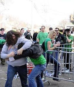A drunken Irish jig or a street brawl? Who's to say?