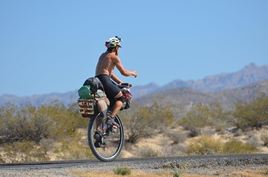 Unicyclist Cary Gray is traveling down to South America on one wheel. - CARY GRAY