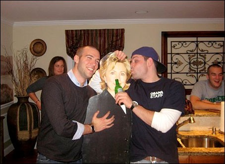 Remember this photo of Jon Favreau (left)? - VIA WASHINGTON POST