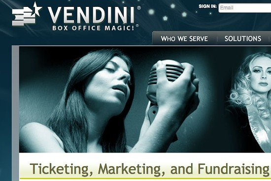 Vendini's website. - VIA VENDINI.COM