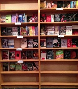 The fiction section of Pudd'nhead Books.