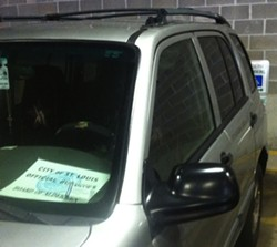 City alderman's car parked in a handicapped spot. - PROVIDED TO DAILY RFT