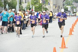 """The """"Completely Sauced"""" team at the start of this year's race. - TIM PARKER PHOTO"""