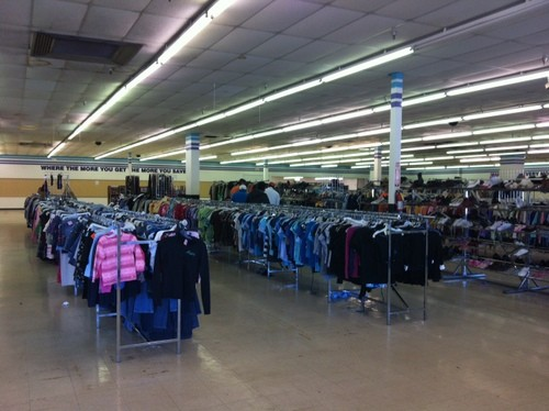Value Village on its last day.