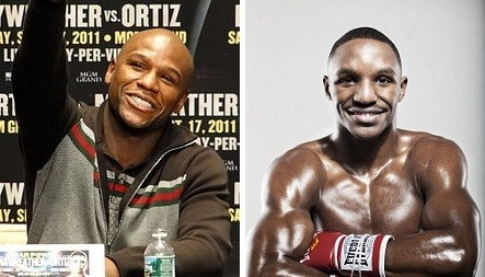 """Mayweather (left) says Alexander is the front runner for a May fight. His Facebook followers say, """"Alexander, who?!"""" - PHOTOS: WIKIMEDIA COMMONS AND JENNIFER SILVERBERG"""