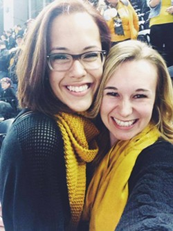 Kelaney Lakers and Alix Carruth, the sophomores who organized Mizzou's counterprotest. - ALIX CARRUTH