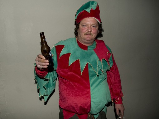 This elf is spreading a little holiday cheer at Sol Lounge on Saturday night. See more photos. - PHOTO: JON GITCHOFF