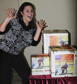 Smith with her prizes